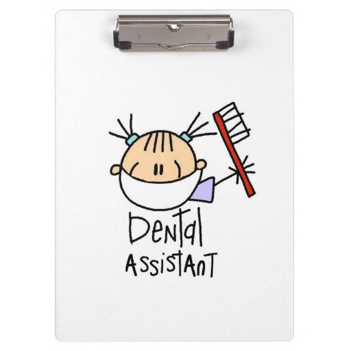 Stick Figure Dental Assistant Clipboard