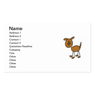 Stick Figure Dog T-shirts and Gifts Double-Sided Standard Business Cards (Pack Of 100)