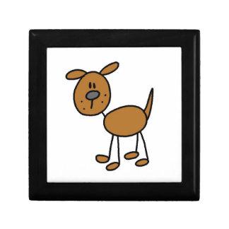 Stick Figure Dog T-shirts and Gifts Keepsake Box