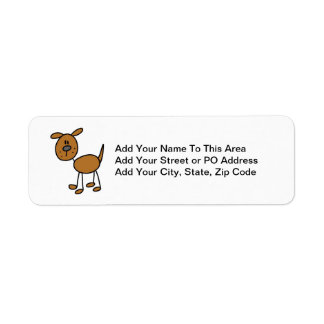 Stick Figure Dog T-shirts and Gifts Label