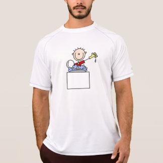Stick Figure Doing Dishes T-Shirt