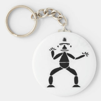Stick Figure Drawing Keychain