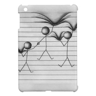 Stick Figure Drawing of Hanging on Lines iPad Mini Cover
