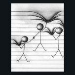 "Stick Figure Drawing of Hanging on Lines Letterhead<br><div class=""desc"">Whether you love a cliff hanger or want to tell someone to &quot;hang in there&quot; - this cute cartoon of a stick figures hanging on lined paper is perfect for  anyone who loves fun,  adventure and inspiration.</div>"