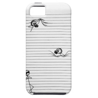 Stick Figure Drawing of Spies and Spy on Lines iPhone SE/5/5s Case