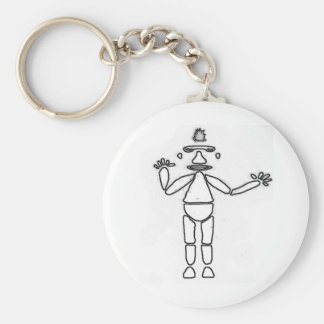 Stick Figure Drawing Outline Keychain