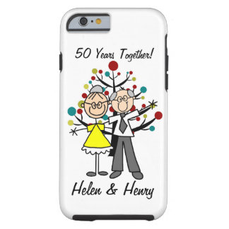Stick Figure Elderly Couple iPhone 6 Tough iPhone 6 Case