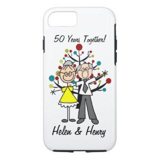 Stick Figure Elderly Couple iPhone 7 iPhone 7 Case