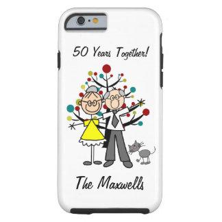 Stick Figure Elderly Couple with Cat iPhone 6 Tough iPhone 6 Case