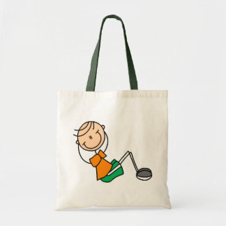 Stick Figure Exercising T-shirts and Gifts Budget Tote Bag
