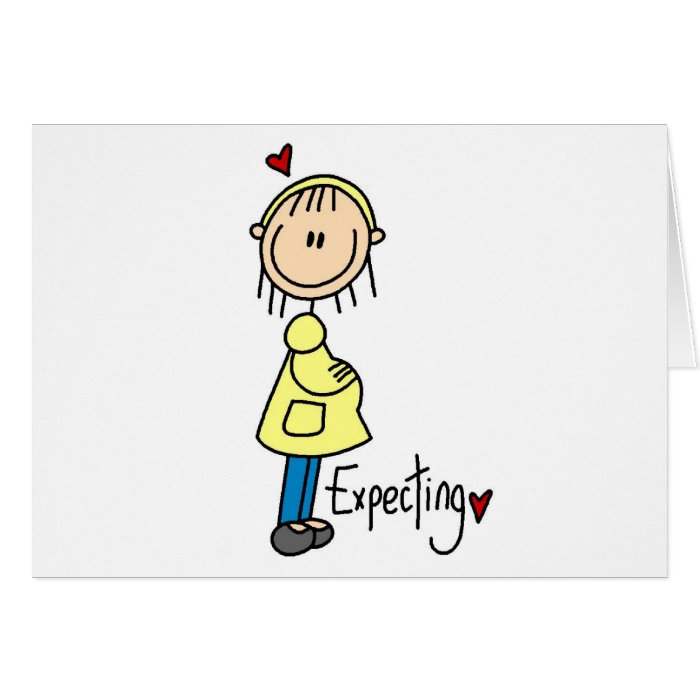 Stick Figure Expecting Baby Card