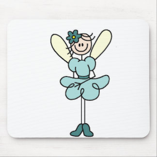 Stick Figure Fairy In Teal Mousepad