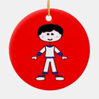 Stick Figure Family (Dad) Ceramic Ornament