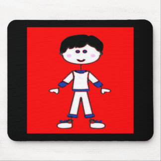 Stick Figure Family (Dad) Mouse Pad