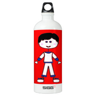 Stick Figure Family (Dad) Water Bottle