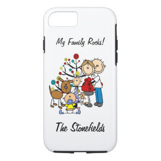 Stick Figure Family Expectant Mom iPhone 7 iPhone 7 Case
