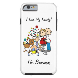 Stick Figure Family Expectant Mom w Pets iPhone 6 Tough iPhone 6 Case
