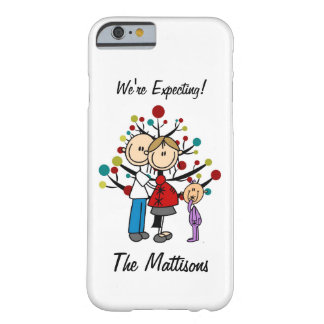 Stick Figure Family Girl Expecting Custom iPhone 6 Barely There iPhone 6 Case