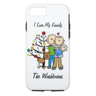 Stick Figure Family iPhone 7 Tough Case