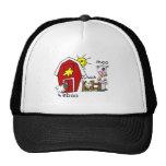 Stick Figure Farm Animals Trucker Hat
