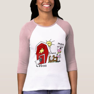 Stick Figure Farm Animals Tshirts and Gifts