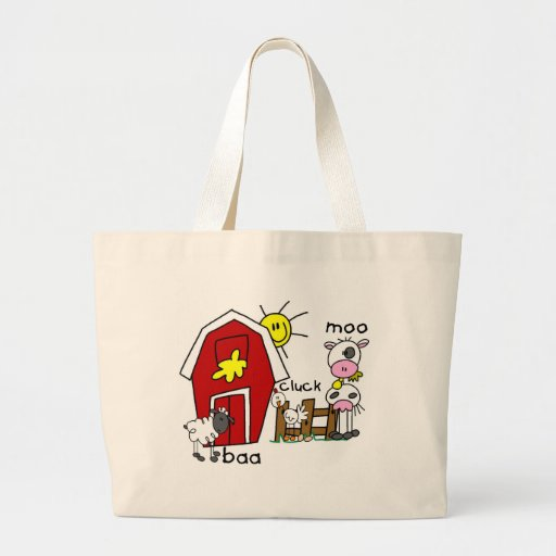 Stick Figure Farm Animals Tshirts and Gifts Bags