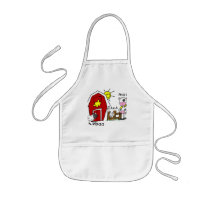 Stick Figure Farm Animals Tshirts and Gifts Kids' Apron