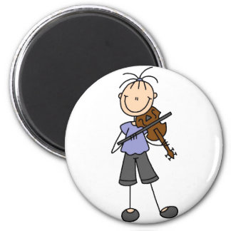 Stick Figure Fiddle Magnet