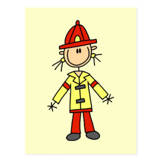 Stick Figure Firefighter Tshirts and Gifts Postcard
