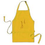 stick figure fisherman apron