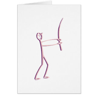 stick figure fisherman card