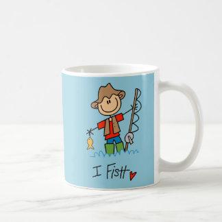 Stick Figure Fisherman Coffee Mug