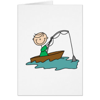 Stick Figure Fishing Card