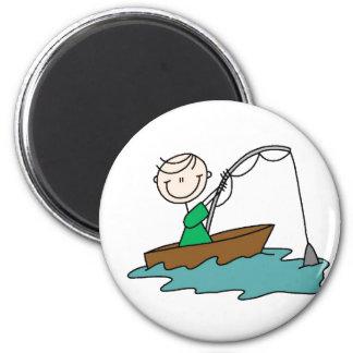 Stick Figure Fishing Magnet