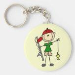 Stick Figure Fishing Tshirts and Gifts Key Chain