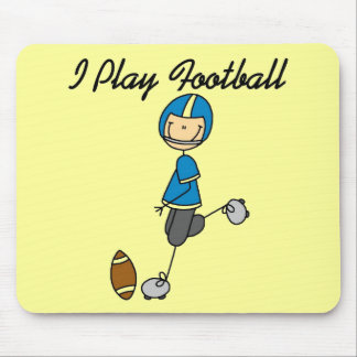 Stick Figure Football - Blue Tshirts and Gifts Mouse Pad