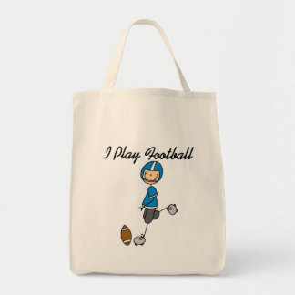 Stick Figure Football - Blue Tshirts and Gifts Tote Bag
