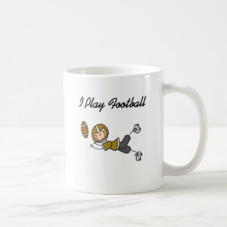 Stick Figure Football - Gold Tshirts and Gifts Classic White Coffee Mug