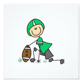 Stick Figure Football Green Card
