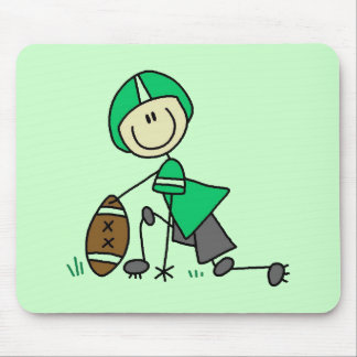 Stick Figure Football Green Mouse Pad