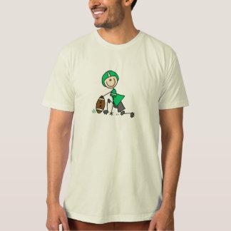 Stick Figure Football Green Shirt
