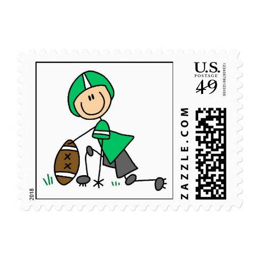 Stick Figure Football Green Stamps