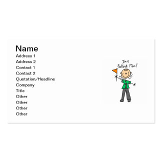 Stick Figure Football Mom Double-Sided Standard Business Cards (Pack Of 100)