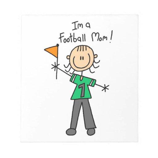 Stick Figure Football Mom Note Pads