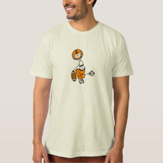 Stick Figure Football Player Orange Shirt