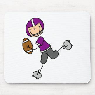 Stick Figure Football Purple Mouse Pad