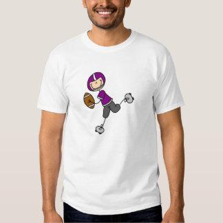 Stick Figure Football Purple Shirt