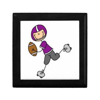 Stick Figure Football Purple Trinket Boxes
