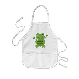 Stick Figure Frog Kids' Apron