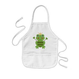 Stick Figure Frog Prince Kids' Apron